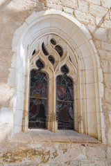 Stained glass window in Rocamadour