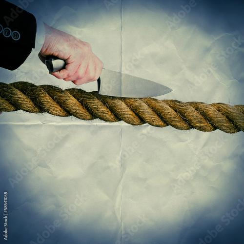 cut rope paper backdrop