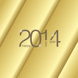 Happy New Year 2014 gold background vector
