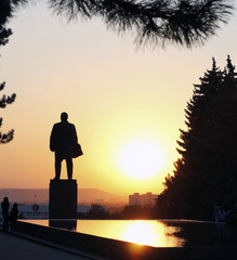 Lenin's square. Lenin's memorial and fontain of tears