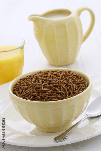 Delicious bran cereal breakfast