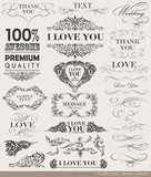 calligraphic design elements, page decoration