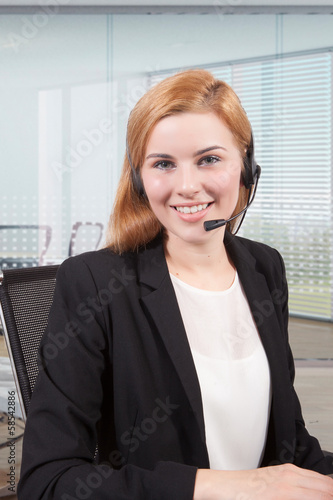 Businesswoman customer service