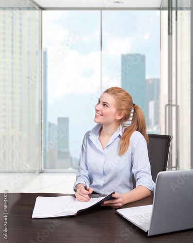 businesswoman in office