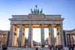 Leinwanddruck Bild - Brandenburg Gate in Berlin - Germany