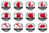 Fototapety Vector Icons *** Europe Countrys + Maincities2
