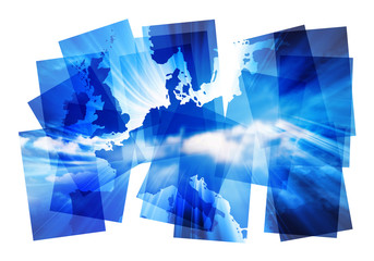 blue europe abstract