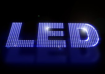 Illustration of LED spelled out with leds