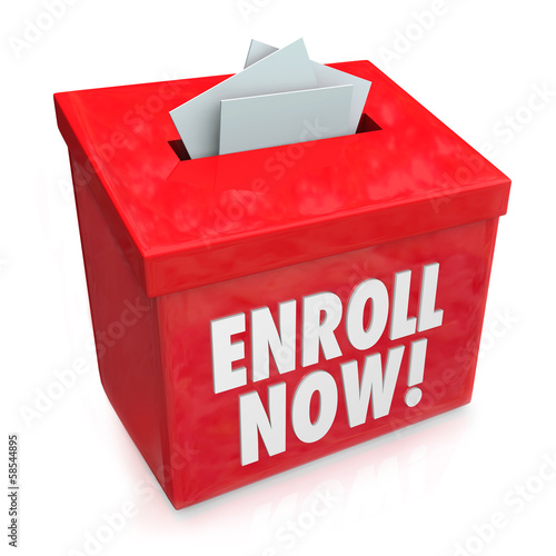 Enroll Now Enrollment Campaign Drive Entry Box