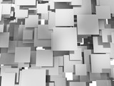 Abstract metal squares overlapping
