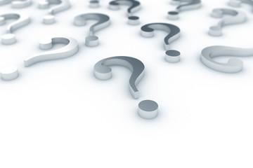 Question marks metallic