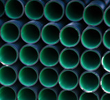 Plastic industrial pipes background