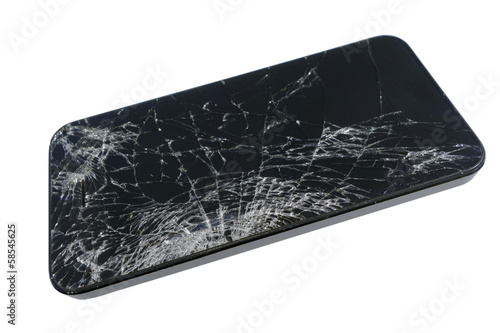 Broken Smartphone or Tablet Screen