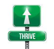 thrive road sign illustration design