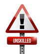 unskilled warning road sign illustration