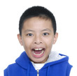 Handsome Little Boy, expression fun face Isolated