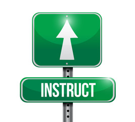instruct road sign illustration design