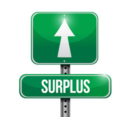 surplus road sign illustration