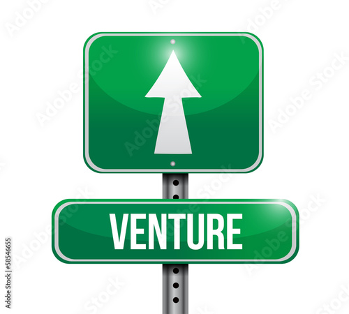 venture road sign illustration design