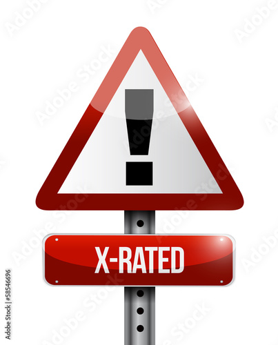 X-rated warning road sign illustration design