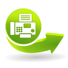 fax sur symbole vert