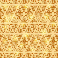 Shiny Dotted Triangle Seamless Background