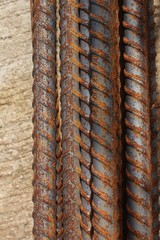 Close up steel rod