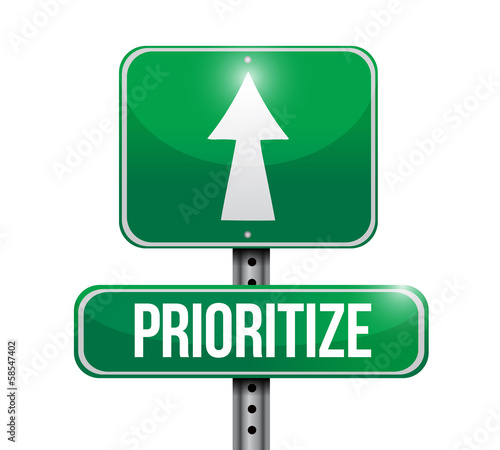 prioritize road sign illustration design