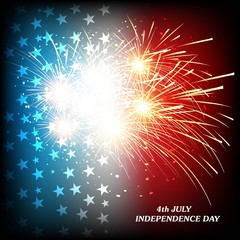 4th july american  independence day celebration background illus