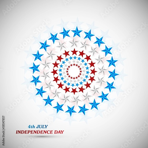 4th July American Independence Day star background vector illust