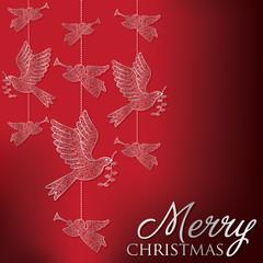Elegant hanging ornament card in vector format