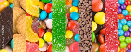 Colorful sweets backgrounds