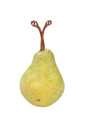 genetically modified pear with eyes