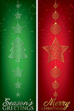 Formal Christmas filigree banners in vector format. poster