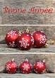 Bonne année avec boules de Noël
