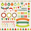 Retro Christmas Set Red/Green/Beige