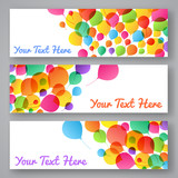 Set of colorful balloon banners