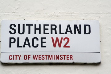 Sutherland Place a famous London street