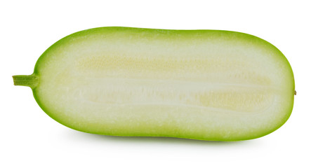 Slice of winter melon on white