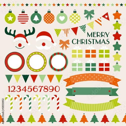 Retro Christmas Set Red/Green/Beige