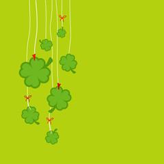 Hanging Cloverleafs Green