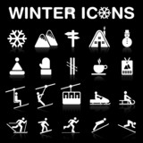 Winter Icons Set - (negative ver.) VECTOR eps8