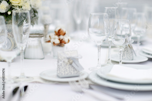 Papiers peints Table preparee Table set for an event party or wedding reception