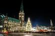 Leinwanddruck Bild - Hamburg Weihnachtsmarkt, Germany