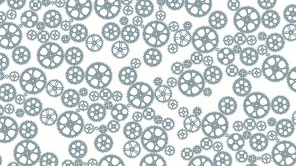 loop animated gears animation for background