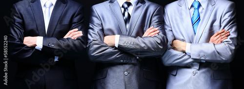 Leinwandbild Motiv Group portrait of a professional business teamon