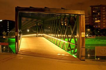 Puente de Andorra en Madrid Río