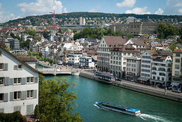 Limmat embankment in Zurich