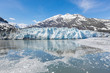 Panoramic view of the Margerie glacier in the Glacier Bay