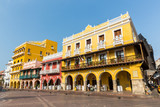 Square of carriages downtown Cartagena, Colombia